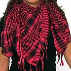 Plaid Check Scarf Black and Hot Pink