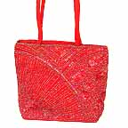 Embroidered Shopping Bag with Beads H