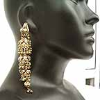 Traditional Indian Gold Earrings EA_A