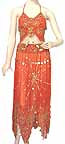Belly Dancing Costume Dress Orange BB