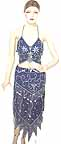 Blue Belly Dancing Costume Dress BC