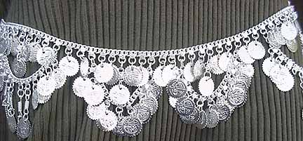 Belly Chain Belly Dance Silver Coin Belt Design D