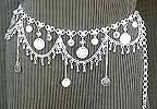 Bellydance Silver Belly Chain Coin Belt Design O