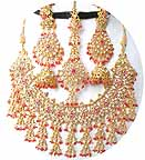 Bridal Jewelry Set Pink Tourmaline Diamond JVS-75