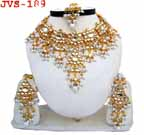 Gold Bridal Jewelry Set Diamond 4 Pcs JVS-189