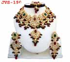 Gold Bridal Jewelry Set Diamond 4 Pcs JVS-190