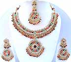 Gold Diamond Bridal Jewelry Set JVS-03