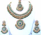 Gold Diamond Bridal Jewelry Set JVS-05