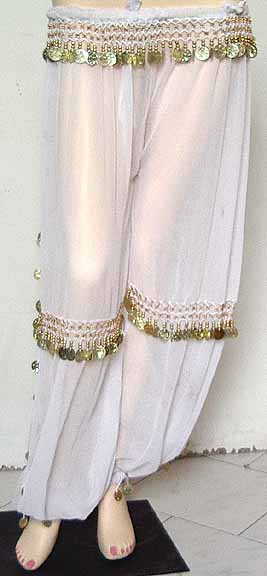 Cover ups for Bathing Suits Harem Pants White b
