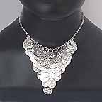 Silver Coin Necklace ref A