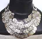 Silver Belly Dancing Coin Necklace ref B