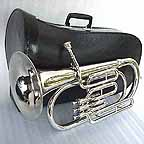 New Silver March Baritone with Mouthpiece and case