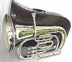 New Silver Bb Euphonium with Mouthpiece and Case
