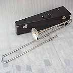 New Silver Slide Trombone with Mouthpiece and Case