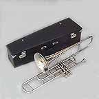 New Silver Valve Trombone with Mouthpiece and Case